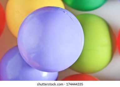 Close up colorful ball.