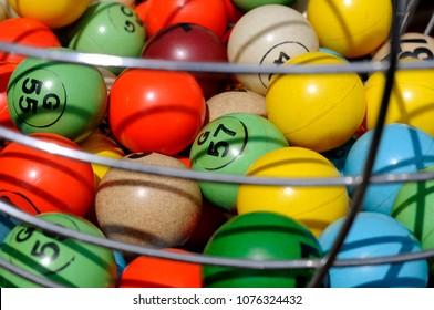 Close Up Of Colorful Bingo Balls
