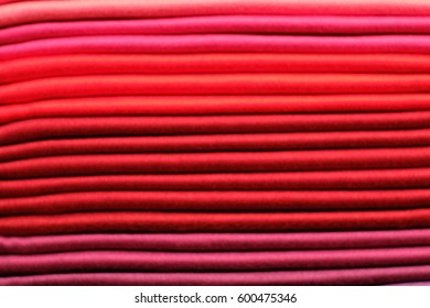 Close up colorful fabric texture background