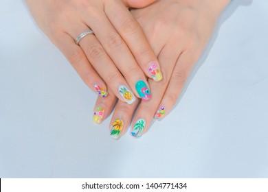 Flower Nail Art Images Stock Photos Vectors Shutterstock
