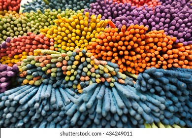 Close Up of colorful incense stick