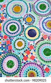 Close up of colorful mosaic tiles for background