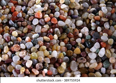 Close up colorful pebbles