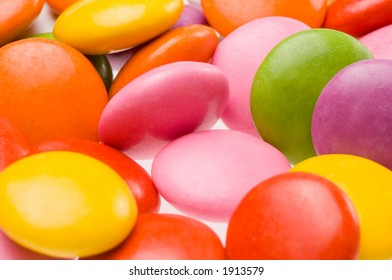 Close up of colorful smarties