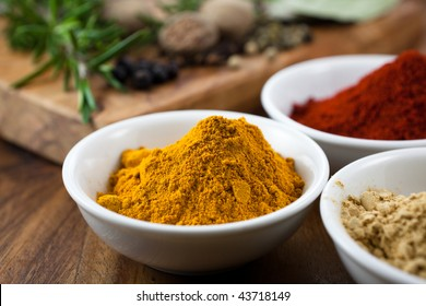 Close up of colorful spices
