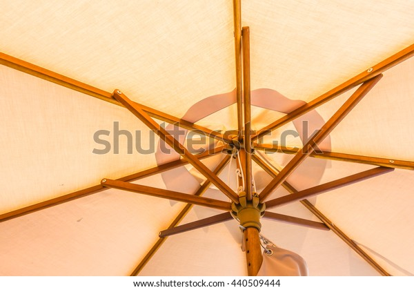 Close up colorful umbrella textures for background