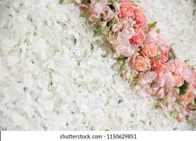 Close up colourful flower bouquet background