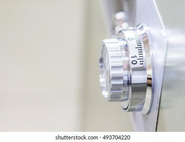 Close up of a combinations safe dial lock