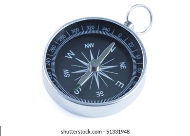 close up of a compass with slight blue filter effect