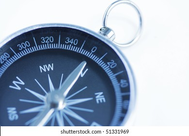 close up of a compass with slight blur filter effect