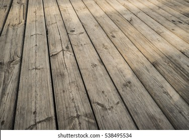 Close up of composite decking. Wood planks background. Timber hardwood wall.(selective focus)