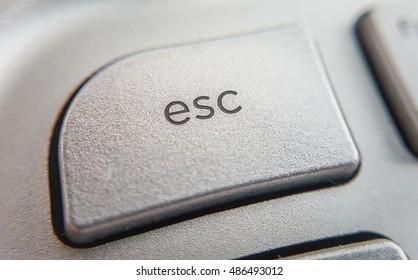 close up of computer key  - escape key