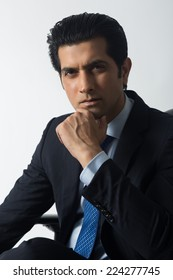 close up of a confident Indian businessman