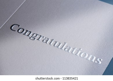 close up of the Congratulations Note