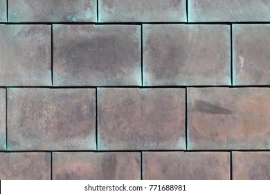 close up of copper structure, grunge metal background
