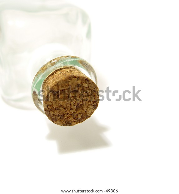 Close up of a cork in a bottle