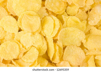 Close up of cornflakes background