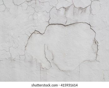 Close up of cracked concrete wall texture background.