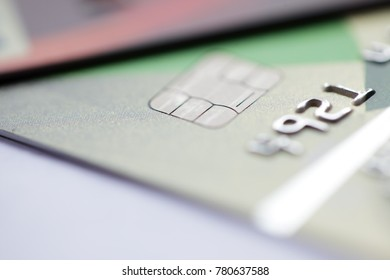 close up of credit card background with copyspace.