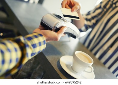 Close up of credit card payment