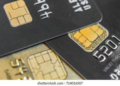 Close up of a credit card with selective focus. Concept of business, finance, shopping, and commerce