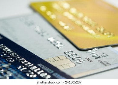 Close up credit card for shopping online
