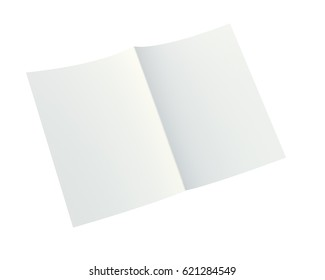 close up of a crumpled unfolded piece of paper. Isolated on white background. 3d rendering