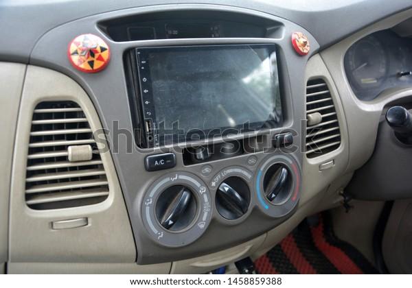 Close Dashboard Car Ac Air Vents Stock Photo (Edit Now