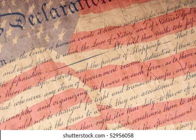 Nahaufnahme der Unabhängigkeitserklärung