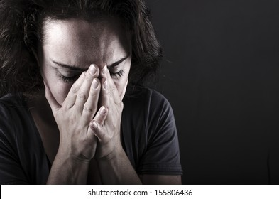 Close up of depressed woman