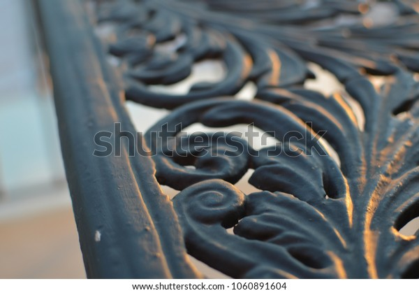 Close up detail of beautiful carving ornament decoration design background