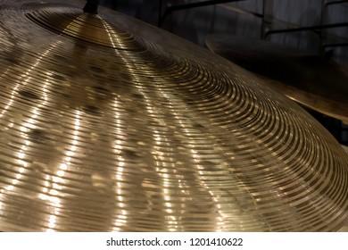 close up detail of cymbal crash hi hat