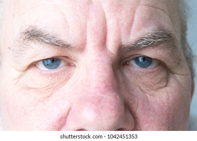 close up detail image showing older mature male eyes, concept, vision, looking
