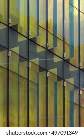 Close Up Detail Shot of Patterns on Windows Reflecting Golden Sunlight in the Afternoon