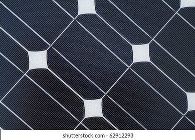 close up detail of solar panel