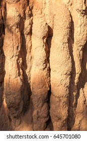 Close up detail and texture of a giant Termite Mound called Cathedral mounds in Litchfield National Park, Northern Territory, Australia.