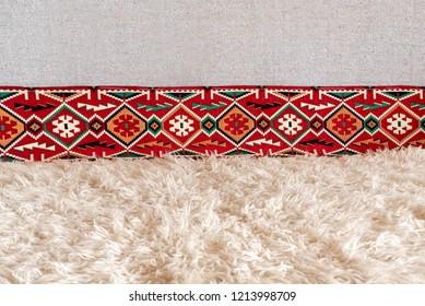 Close up detail of white carpet
