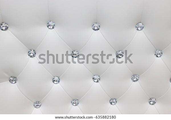 Phenomenal Close Detail White Leather Couch Diamond Stock Photo Edit Machost Co Dining Chair Design Ideas Machostcouk