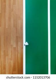 close up details of shuttercock at indoor badminton court