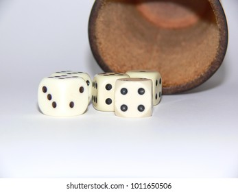 Close up of a dice game