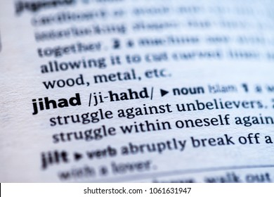 Close up to the dictionary definition of Jihad