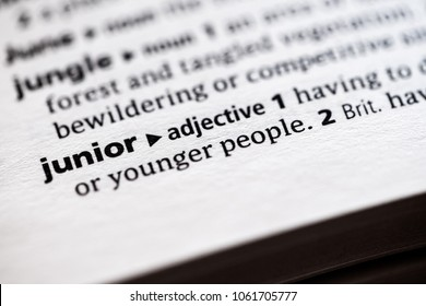 Close up to the dictionary definition of Junior