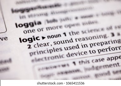 Close up to the dictionary definition of Logic