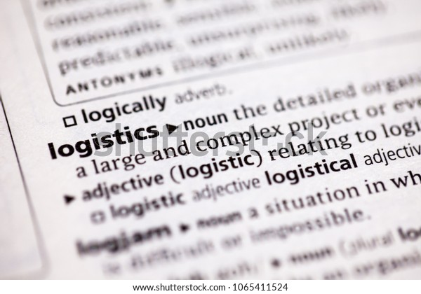 Close Dictionary Definition Logistics Stock Photo (Edit Now