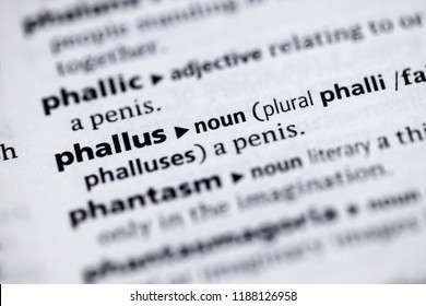 Close up to the dictionary definition of Phallus