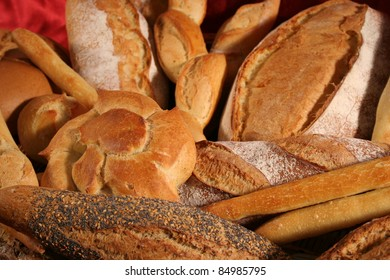 close up of different kinds of breads