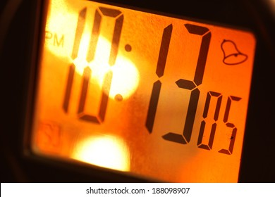 Close up of a Digital timer clock