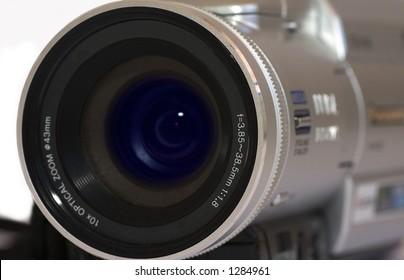 Close up of digital video camera