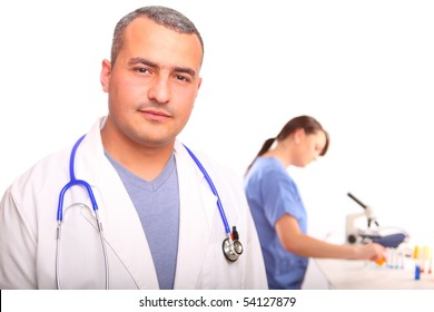 Close up of Doctor with Female Nurse