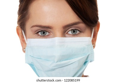 Close up of a doctor in surgical mask
